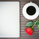 Coffee time with laptop-coffee cup-red rose-4 - PhotoDune Item for Sale