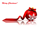 Christmas Red Ball with Bow and Ribbon - GraphicRiver Item for Sale
