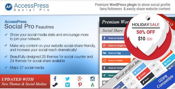 AccessPress Social Pro - CodeCanyon Item for Sale