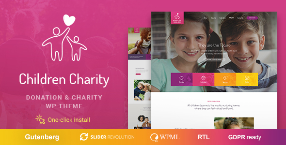 Children Charity - Nonprofit & NGO WordPress Theme with Donations