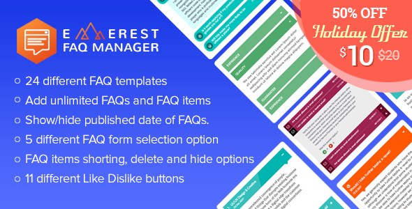 Everest FAQ Manager - Responsive Frequently Asked Questions (FAQ) Plugin for WordPress - CodeCanyon Item for Sale