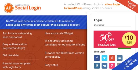 AccessPress Social Login - CodeCanyon Item for Sale