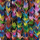 Bunches of colorful Origami paper crane birds full frame - PhotoDune Item for Sale