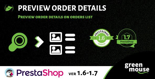 Prestashop Preview Order Details - CodeCanyon Item for Sale