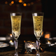 Christmas or New year festive set with glasses of champagne - PhotoDune Item for Sale
