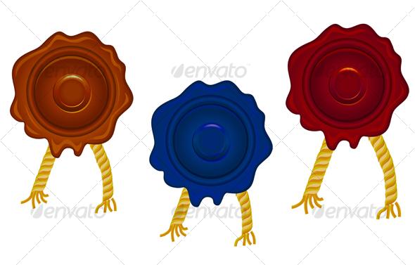 Wax seals - Decorative Vectors