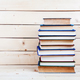 Free Download Old books on a wooden shelf. funds for education Nulled