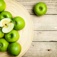 Free Download fruit. apples in a bowl on wooden background Nulled