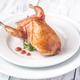 Baked quail wrapped in bacon on the plate - PhotoDune Item for Sale