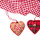 Valentines day. Top view of fabric hearts, white background. - PhotoDune Item for Sale