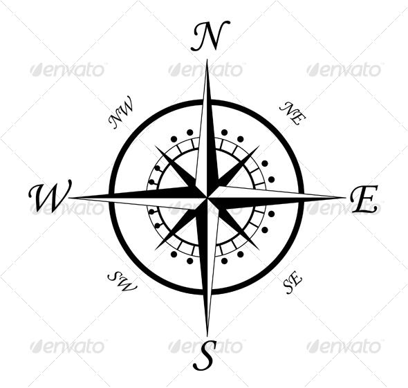 Compass symbol 3 - Decorative Vectors