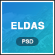 Eldas - Isometric Portfolio PSD Template - ThemeForest Item for Sale
