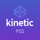 Free Download Kinetic - App Landing One Page PSD Template Nulled