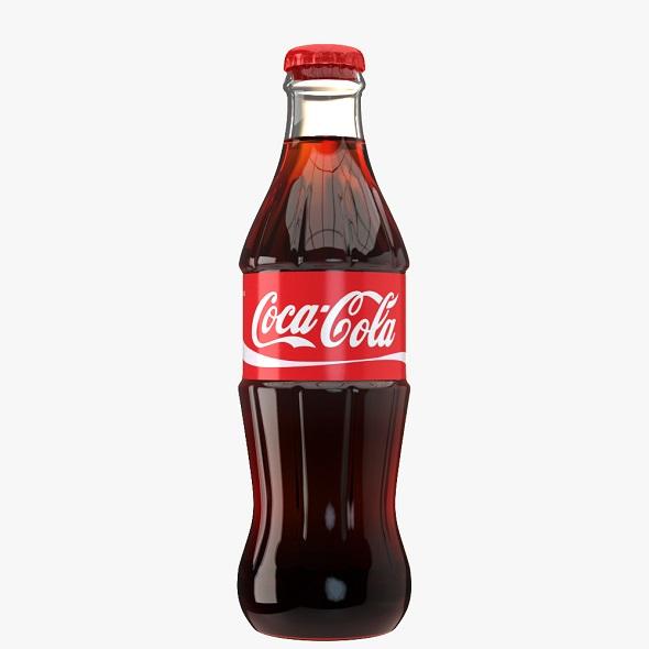 Coca Cola Drink Glass Bottle - 3DOcean Item for Sale