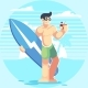 Male Character on the Beach - GraphicRiver Item for Sale