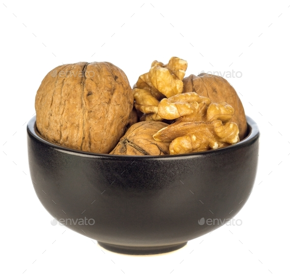 A Bowl of Walnuts - Stock Photo - Images