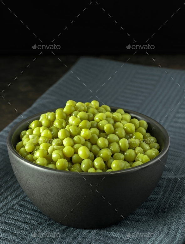 A Bowl of Fresh Peas - Stock Photo - Images