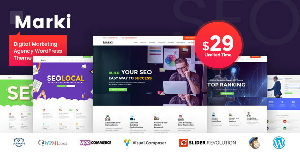 Marki - Digital Marketing Agency WordPress Theme - Marketing Corporate