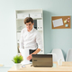 Free Download Business people, fool and joke concept - young handsome man in the office Nulled