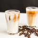 Free Download Delicious drink concept - Iced coffee in a glass with ice. Nulled