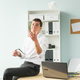 Free Download Handsome businessman having fun in the office Nulled