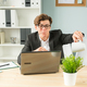 Free Download Business people, humor and people concept - Handsome office man is watering the potted plant Nulled