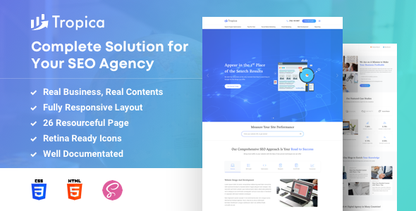 SEO Tropica – SEO Template for SEO and Digital Agency - Technology Site Templates