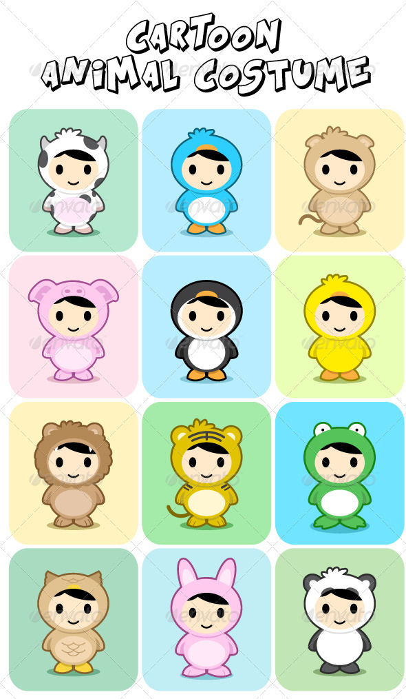 Animal Costume Set - Animals Characters