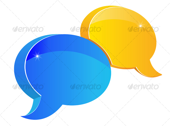 Speech or chat symbol  - Decorative Vectors