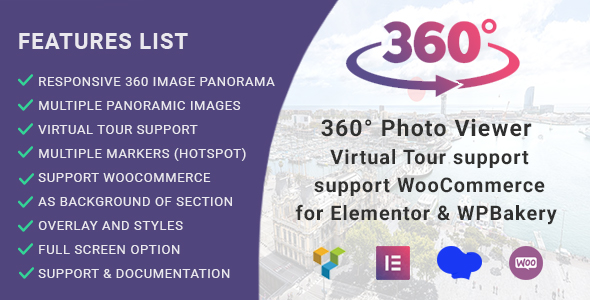 360° Photo Viewer (Virtual Tour) for Elementor and WPBakery Page Builder - CodeCanyon Item for Sale