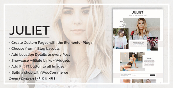 Juliet - A Blog & Shop Theme for WordPress - Blog / Magazine WordPress