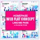 Flat Business Landing Page Template - GraphicRiver Item for Sale