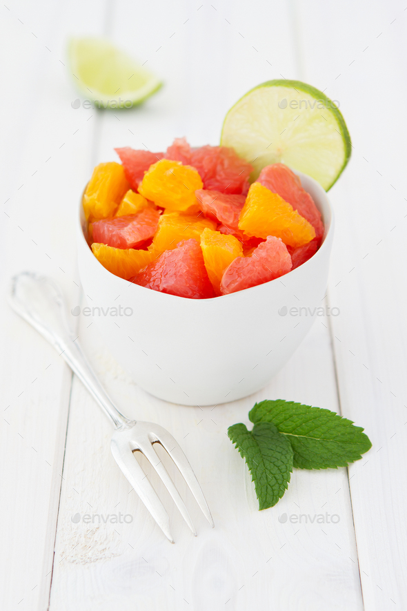 Fruit Salad With Grapefruits And Oranges - Stock Photo - Images
