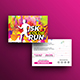 Color Run Event Postcard Template - GraphicRiver Item for Sale