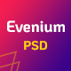Evenium - Multipurpose Event and Conference PSD Template - ThemeForest Item for Sale