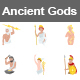 Ancient Gods Colors Vector Icons - GraphicRiver Item for Sale