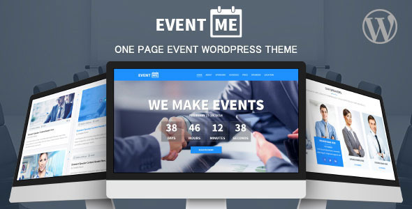 EventMe - Corporate Event Landing Wordpress Theme