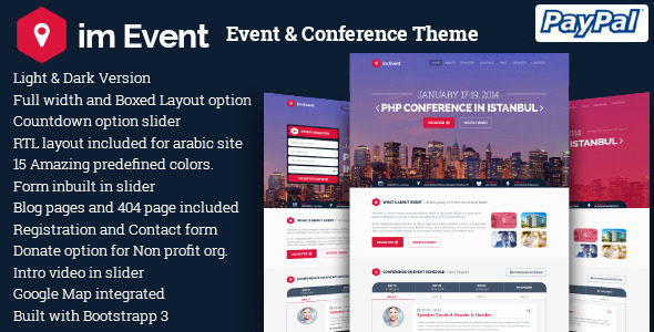 im Event - Event & Conference WordPress Theme