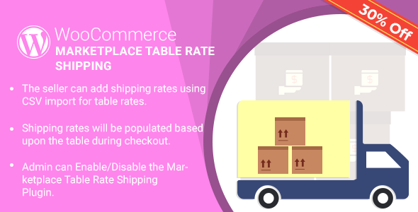 WordPress WooCommerce Marketplace Table Rate Shipping Plugin