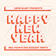 Retro New Year Flyer Set - GraphicRiver Item for Sale