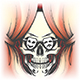 Human Skull and Stage Curtain - GraphicRiver Item for Sale