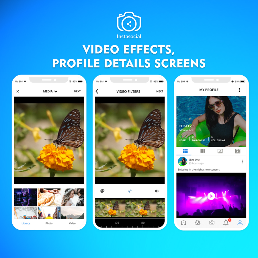 Instasocial IOS App - An Instagram like social media app with creative  filters and editing tools