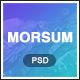 Morsum - Agency PSD Template - ThemeForest Item for Sale