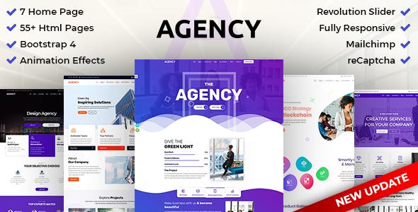 DZone Agency: Creative Multipurpose Bootstrap 4 HTML Template - Creative Site Templates