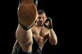 professional boxer boxing isolated on black studio background - PhotoDune Item for Sale