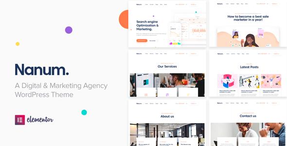 Nanum — Digital & Marketing Agency WordPress Theme - Marketing Corporate