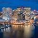 Aerial View Over Baltimore Downtown City Skyline Inner Harbor - PhotoDune Item for Sale