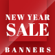 New Year Sale Web Banner Set - GraphicRiver Item for Sale