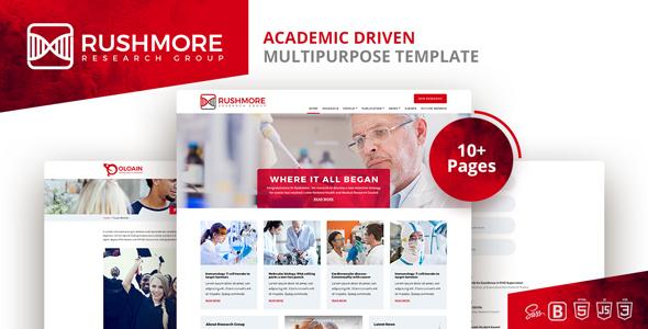 Rushmore-Academic Driven  Multipurpose Template - Corporate Site Templates