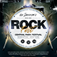 Rock Festival Flyer Template V8 - GraphicRiver Item for Sale